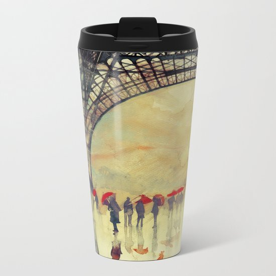 Winter in Paris Metal Travel Mug
