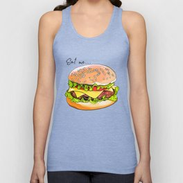 Illustration of a burger from fast food. Unisex Tank Top