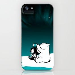 Icelandic bear, aurora borealis iPhone Case