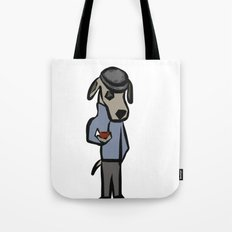 Dog with pipe Tote Bag