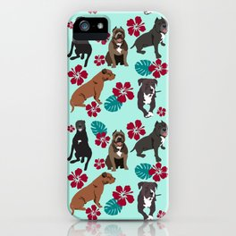 Pitbull Rescue Dogs iPhone Case