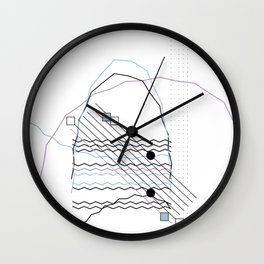 Mountains by the Ocean Wall Clock