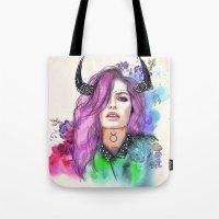 taurus Tote Bags featuring Taurus by Sara Eshak