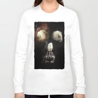 nick cave Long Sleeve T-shirts featuring Cave Skull by Ali GULEC
