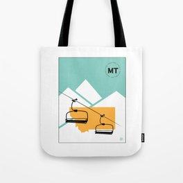 Skiing in Montana Tote Bag