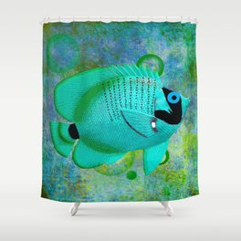 ANGEL FISH BLUE Shower Curtain