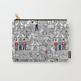 retro circus bw col Carry-All Pouch