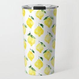 Sicilian lemons || watercolor Travel Mug