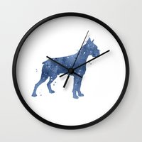 boxer Wall Clocks featuring Boxer by Carma Zoe
