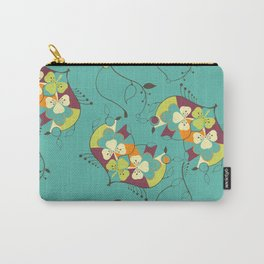 Flower hearts pattern Carry-All Pouch