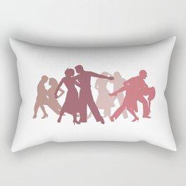Latin Dancers Illustration Rectangular Pillow