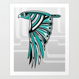 Hawk Deco II Art Print