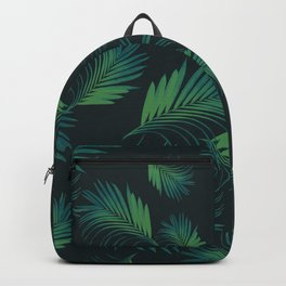 Tropical Night Palms Pattern #1 #tropical #decor #art #society6 Backpack