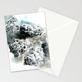 4 Meteors Stationery Cards