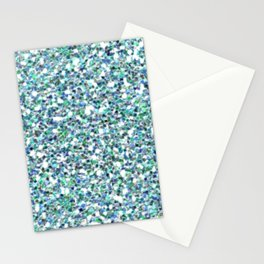 Teal Mermaid Scales Queen Stationery Cards