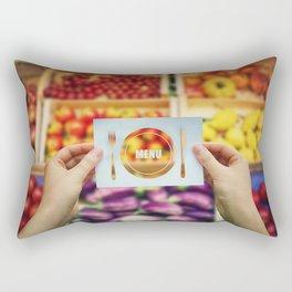 menu Rectangular Pillow