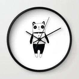 Little black and white panda Wall Clock