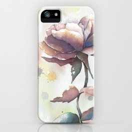 Mourning Rose iPhone Case