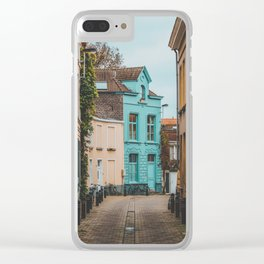 Streets of Belgium Clear iPhone Case