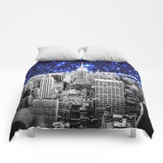 new york city. Blue Stars Comforters