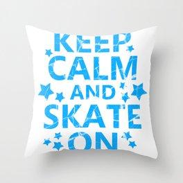 skating skating to skate gift skates ice Throw Pillow