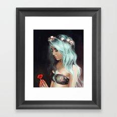 Little Spring Poppy Framed Art Print