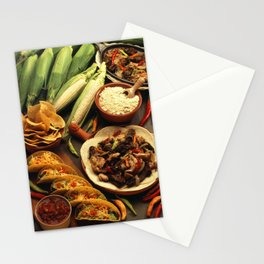 Mexican Food Stationery Cards