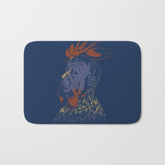 Hitch-Cock! Bath Mat