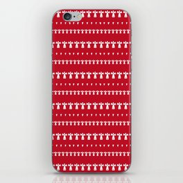 White Christmas Angels on red with hearts iPhone Skin