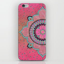 India Pink Mandala Pattern iPhone Skin