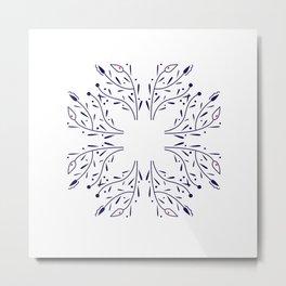design elements blue on white  - exotic mandalas Metal Print