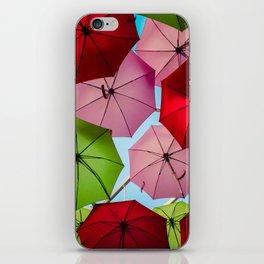 Colorful umbrellas. iPhone Skin