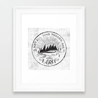 not all who wander Framed Art Prints featuring NOT ALL WHO WANDER ... by Matthew Taylor Wilson