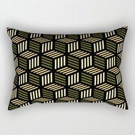 Cubic Olive Rectangular Pillow