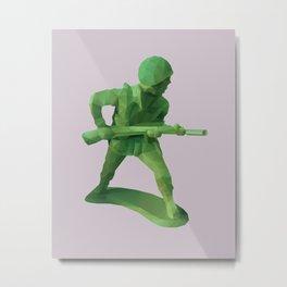 Toy Soldier Polygon Art Metal Print