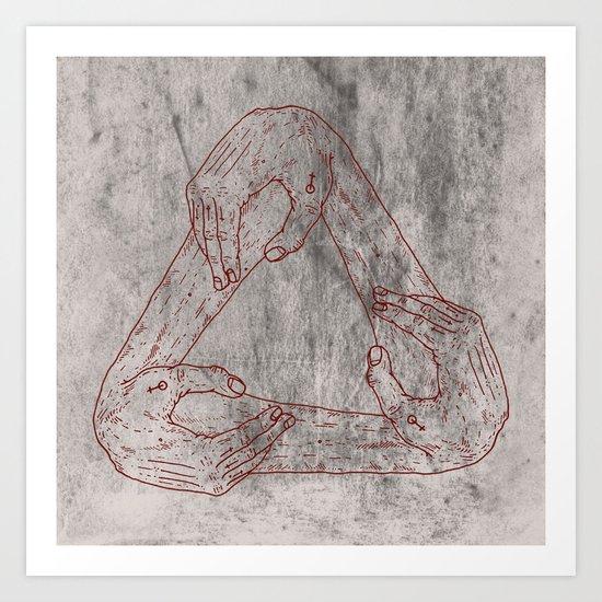 Basket Of Hands Art Print