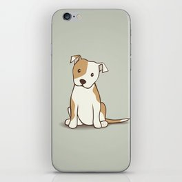 Staffordshire Bull Terrier Dog Illustration iPhone Skin