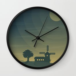 Nautical Dawn Windmill Wall Clock