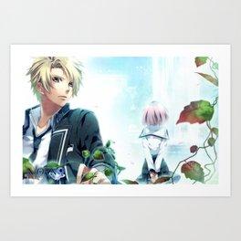 Kakeru Yuiga and Koharu Art Print