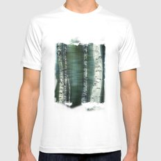 birch trees MEDIUM White Mens Fitted Tee