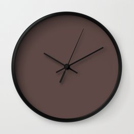 Dunn & Edwards 2019 Trending Colors Dark Chocolate Brown DE6014 Solid Color Wall Clock