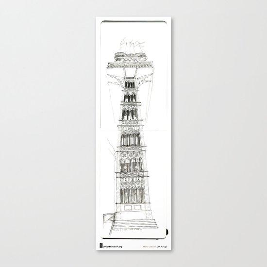 """Mário Linhares"""" Lisboa Lift"""" Canvas Print"""