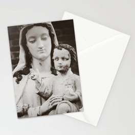 Madonna and Child - Virgin Mary and Baby Jesus Icon - Catholic Art in France Stationery Cards