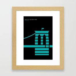 New York Skyline: Brooklyn Bridge Framed Art Print