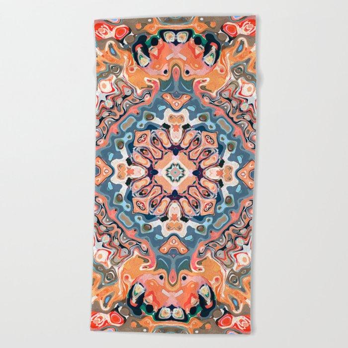 Textured Mandala Pattern Beach Towel