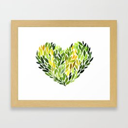 Green at heart Framed Art Print