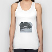 cabin Tank Tops featuring Red Cabin by Accessorius