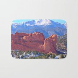 Pikes Peak from Garden of the Gods/Colorado Springs, Colorado Bath Mat
