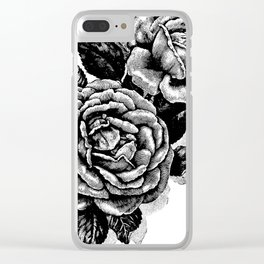 Two Vintage Roses Clear iPhone Case