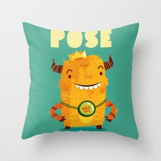 :::Pose Monster::: Throw Pillow